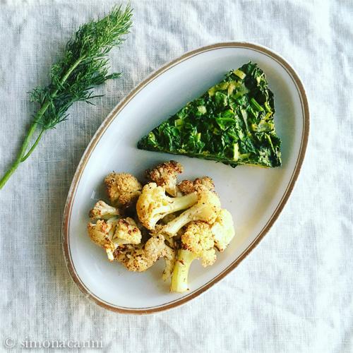 Persian herb and greens frittata / IMG_3163
