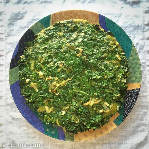 Persian herb and greens frittata / IMG_3158