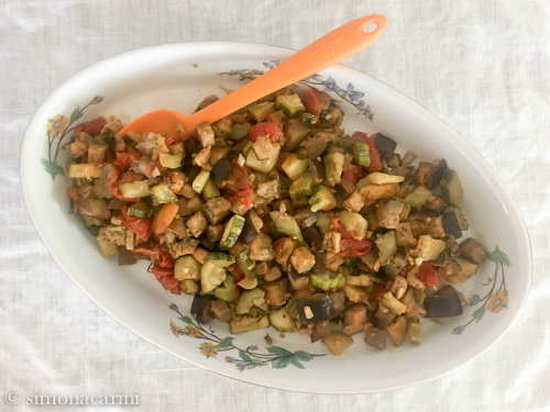 roasted eggplant zucchini and tomatoes / IMG_3411 (1)