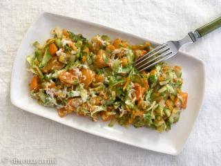zucchini, carrot and tomato side dish