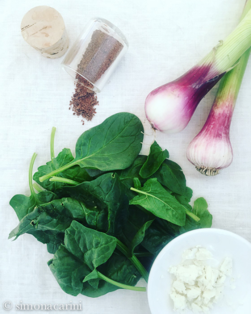 spinach spring onion garlic / IMG_3768